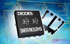 Diodes Incorporated 推出符合車用規範 3.3mm x 3.3mm 封裝 40V 雙 MOSFET